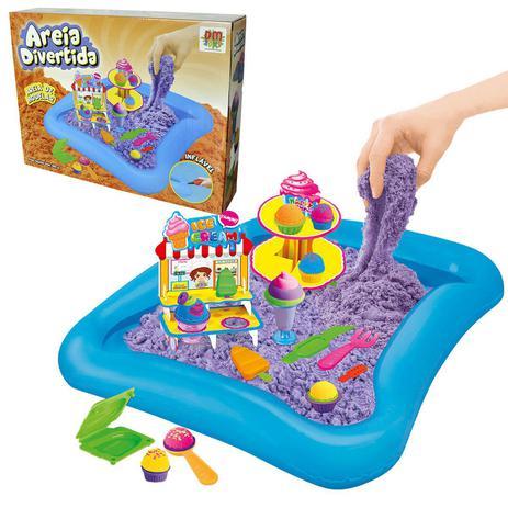 1e381ed2d7 Massinha Divertida Areia Magica Modelar 600g 10 Moldes E Acessorio  brinquedo Sorveteria (DMT5340) - Dm toys