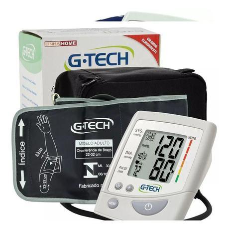 Imagem de Medidor Aparelho De Pressão Arterial De Braço Digital Com Estojo e Pilhas G TECH