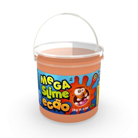 Imagem de Mega Pote de Slime Ecão - 2Kg - Laranja - DTC