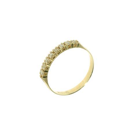 4e2b19497c25d Meia Aliança em Ouro 18K com 9 Diamantes de 2 Pontos cada - Napoleon Joias