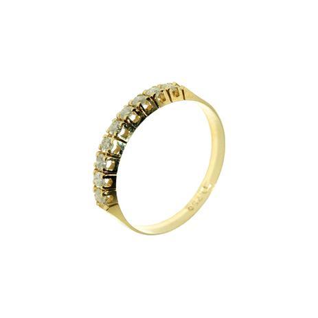 6a96ef21af115 Meia Aliança em Ouro 18K com 9 Diamantes de 3 Pontos cada - Napoleon Joias