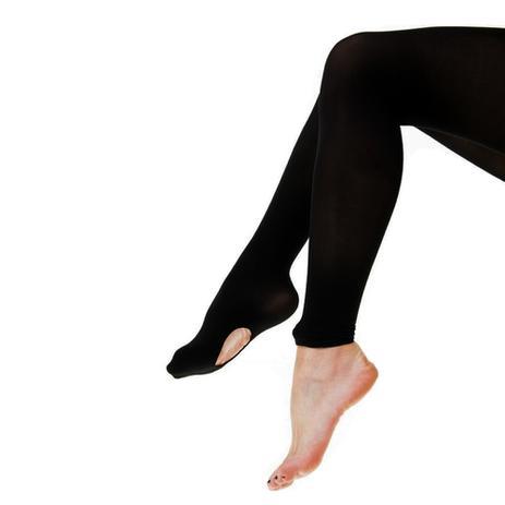 3bb92446c8 Meia-calça Ballet Conversível 2 Em 1 Legging Suplex Fio 120 Infantil  Juvenil Adulto - Preto - Maraplex