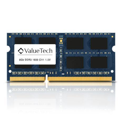 Imagem de Memoria de Notebook 8Gb Ddr3 1600 Cl11 1.5V   VT8G1600L11N Valuetech