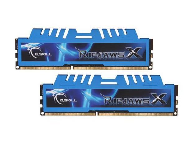 Imagem de Memória G.SKILL Ripjaws X Series 8GB DDR3 1600 (PC3 12800) (F3-1600C9S-8GXM)
