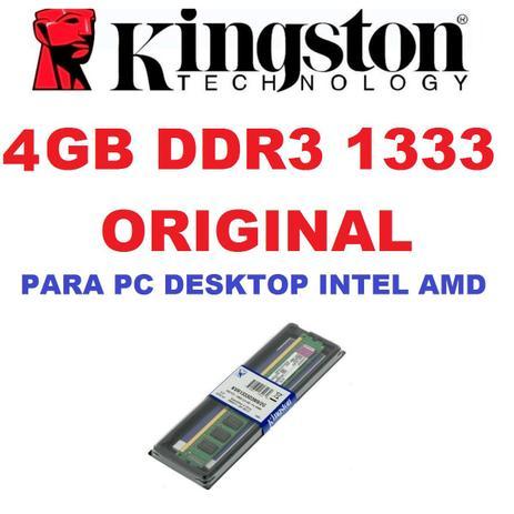 Memoria Kingston Ddr3 4gb 1333 Mhz Desktop 16 Chips Original