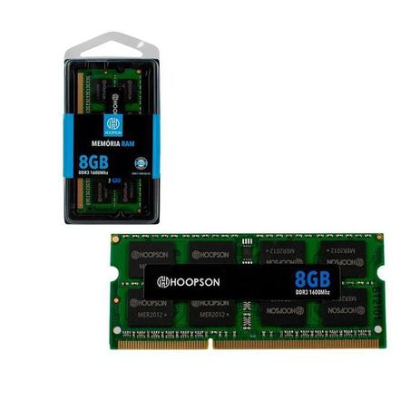 Imagem de Memória Ram 8Gb DDR3 1600Mhz Hoopson