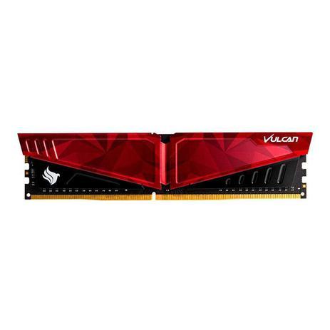 Imagem de Memoria Team Group T-Force Vulcan Pichau 8GB (1x8) DDR4 2666Mhz Vermelha, TLPRD48G2666HC18H01