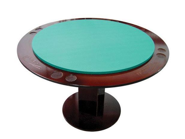 Mesa de Carteado Redonda 4 pessoas Klopf - 31077 Porta-copo Porta-cinzeiro