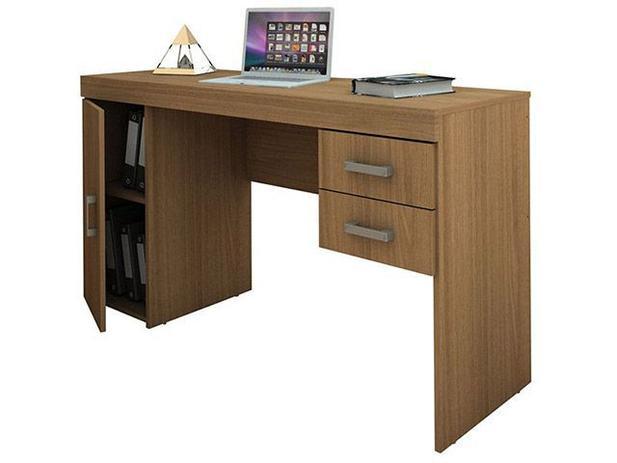 Mesa de Computador / Escrivaninha Miranda - 1 Porta 2 Gavetas - Politorno 1183 CAST