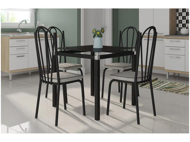 Imagem de Mesa de Cozinha 4 Cadeiras Quadrada