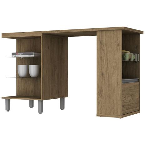 6b1089b2e6d Mesa De Cozinha Ilha Gourmet 1 Porta Integra Rústico Henn - Mesa de ...