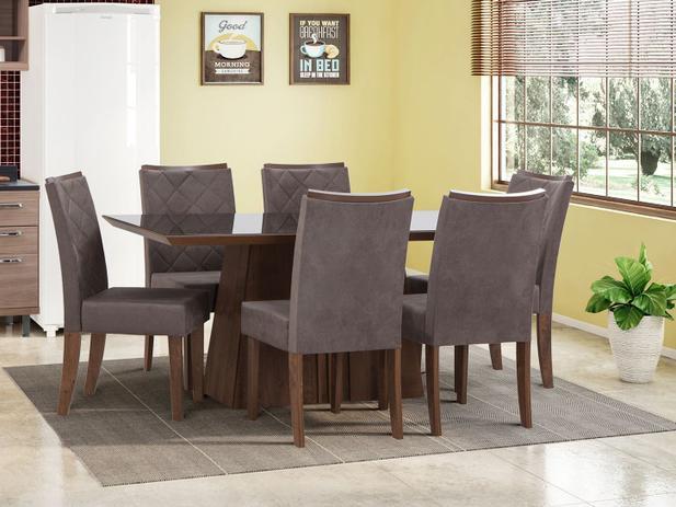 Imagem de Mesa de Jantar com 6 Cadeiras Retangular