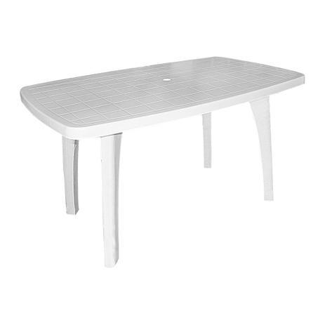 Mesa de pl stico retangular desmontav l tiradentes for Mesas de jardin de plastico