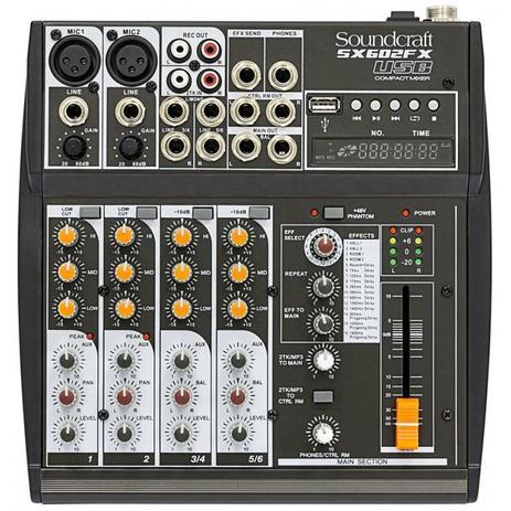 Imagem de Mesa De Som Soundcraft SX602FX 6 Canais USB