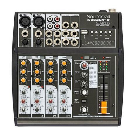 Imagem de Mesa De Som Soundcraft SX602FX  USB