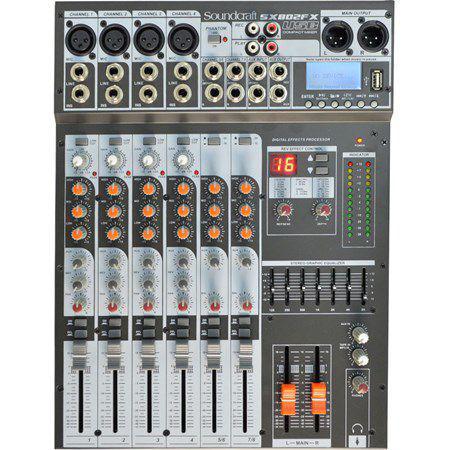 Imagem de Mesa de Som Sx 802 Fx Soundcraft 8 Canais Usb
