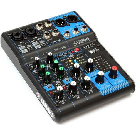 Imagem de Mesa de Som Yamaha 6 Canais Mg06X