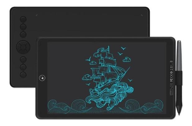 Imagem de Mesa Digitalizadora Huion Inspiroy Ink H320m 2 Em 1 Tela Dupla Com Capinha