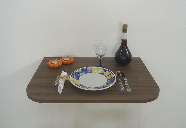Imagem de Mesa Dobrável de Parede Suspensa Cozinha Escrivaninha para Notebook Cor Versati