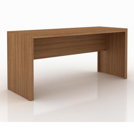 Mesa escrit rio me4109 amendoa tecno mobili escrivaninha mesa para computador magazine luiza Mesas de escritorio