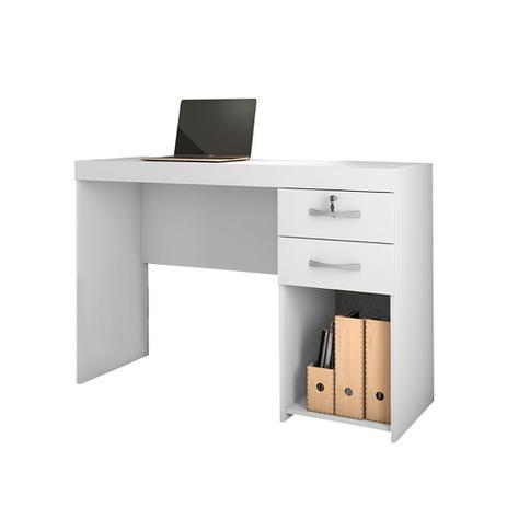 Imagem de Mesa escrivaninha grande para computador e notebook Iara Candian Branco