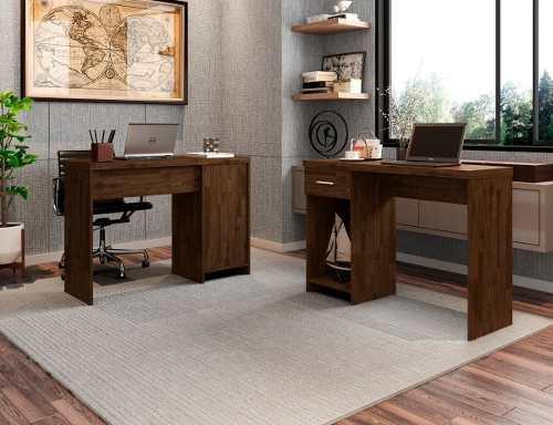 Imagem de Mesa Escrivaninha Para Computador Notebook Prisma Rustic