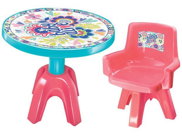Mesa Infantil Baby Alive com Organizador - Lider Brinquedos Centro de Atividades
