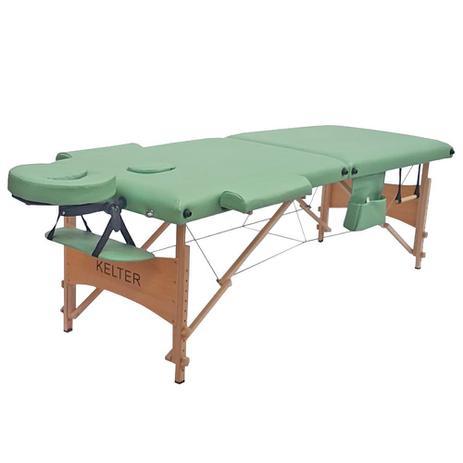 Imagem de Mesa Maca De Massagem Divã Dobrável Com Regulagem De Altura Verde Kelter K-M104