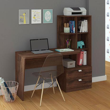 Imagem de Mesa para Computador com 2 Gavetas e 5 Prateleiras Elisa  Permóbilili