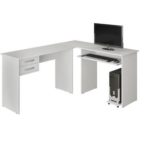 313edebfa Mesa para Computador Em L Triunfo Branco com 2 Gavetas Benetil - Benetil  móveis