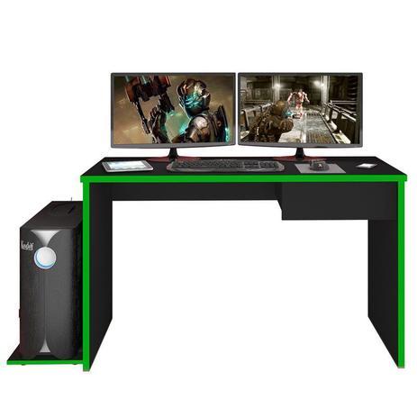Imagem de Mesa para Computador Notebook Desk Game DRX 8000 Preto/Verde - Mpozenato