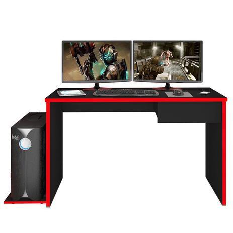 Imagem de Mesa para Computador Notebook Desk Game DRX 8000 Preto/Vermelho - Mpozenato