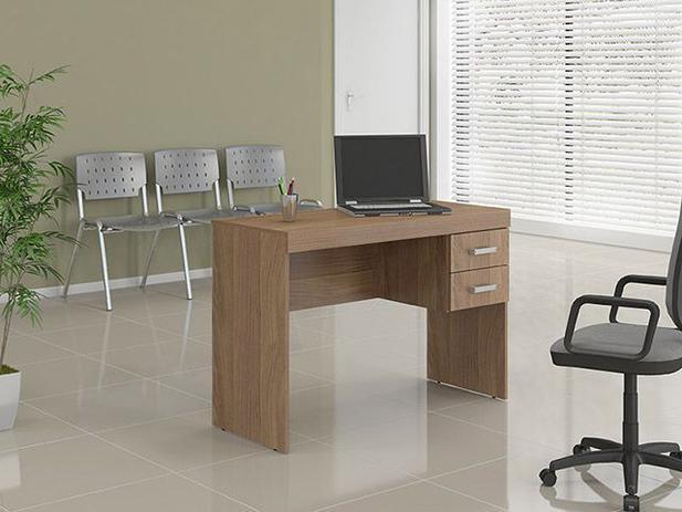 Mesa para escrit rio 2 gavetas politorno 1193 cast - Protector mesa escritorio ...