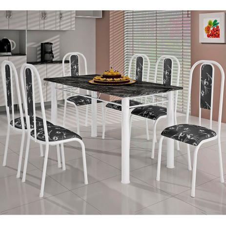 Imagem de Mesa Tupi com 6 Cadeiras 140x75cm Bm Tubulares