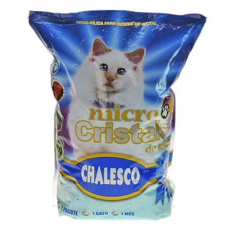 Imagem de Micro Cristais de Sílica Chalesco 1,8Kg - Areia Sanitária para Gatos Micro Silica Chalesco