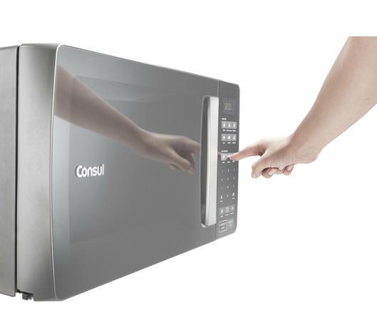 42fc2fa28 Micro-ondas Consul 32 Litros cor Inox Espelhado com Função Descongelar