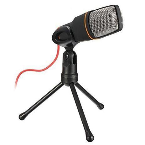 Microfone Condensador Para Gravaçao Profissional Com Tripe Para Notebook e  PC Cor Preta (BSL-RADIO-2) - Braslu