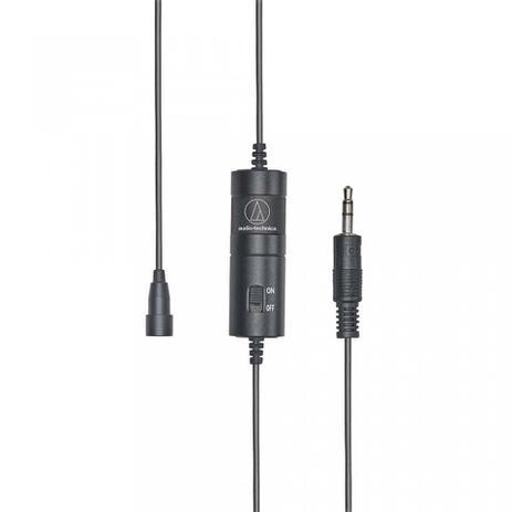 Imagem de Microfone de Lapela Audio Technica Atr3350is Omnidirecional Condensador Com Bateria - ATR3350xiS
