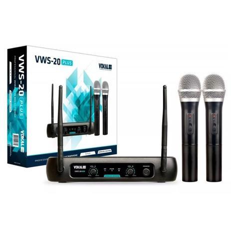 Imagem de Microfone de Mão Sem Fio Duplo Vokal VWS20 Plus
