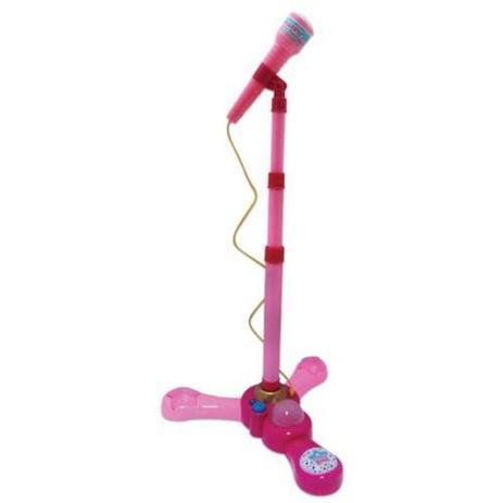 Imagem de Microfone Infantil Rosa com Pedestal - Fênix MCG-235