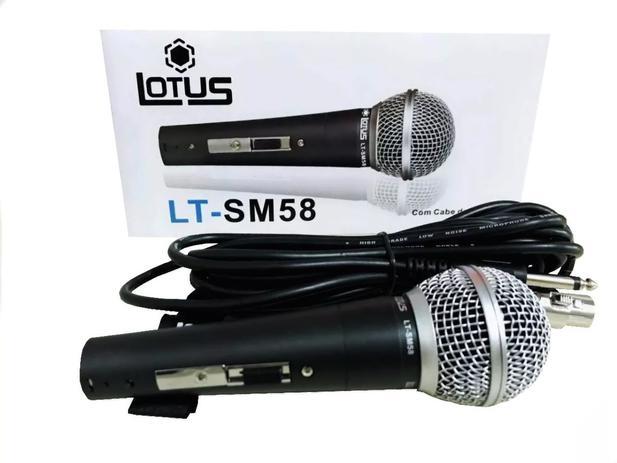 Imagem de Microfone Profissional Com Cabo Lotus Lt-sm58