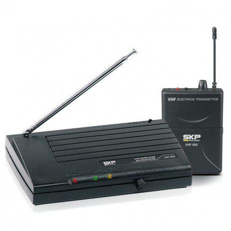 Imagem de Microfone sem fio Headset de Cabeça e Guitarra VHF-895 SKP