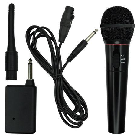 Imagem de Microfone sem Fio Karaokê FM 600 Ohm Completo