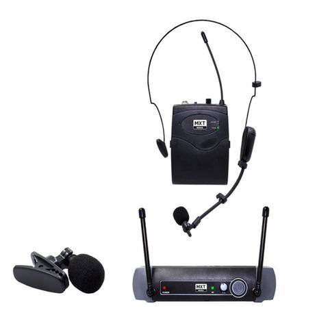 Imagem de Microfone Sem Fio Mxt Uhf10bp Headset/ Lapela Freq. 533.7mhz