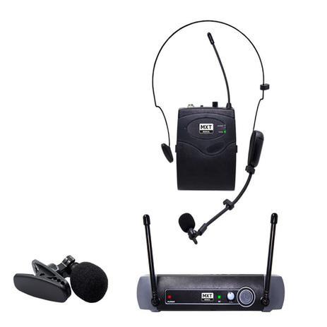 Imagem de Microfone sem Fio MXT UHF10BP HEADSET/ Lapela FREQ. 537.2MHZ