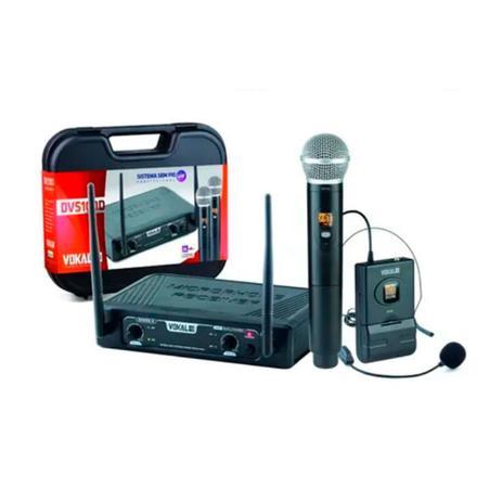Imagem de Microfone Sem Fio Vokal Dvs 100 Dmh Duplo Mão Headset