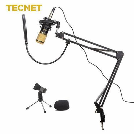 Imagem de Microfone Tecnet BM800 Preto e Dourado