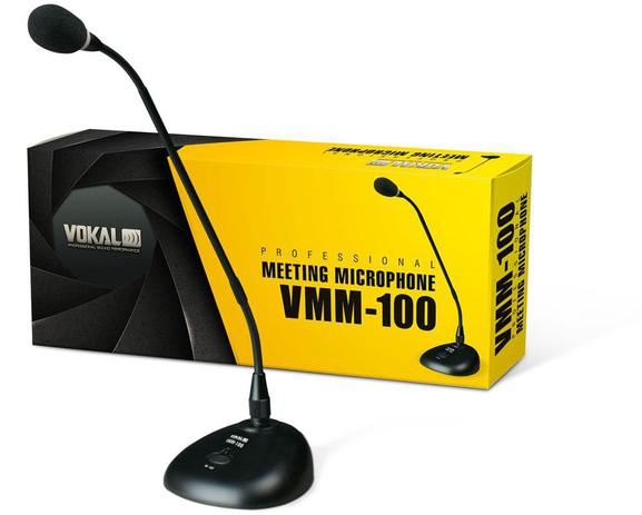 Imagem de Microfone Vokal Vmm100 De Mesa Cor Preto