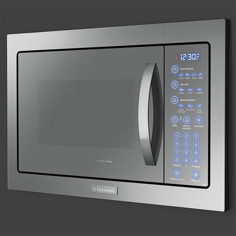 c7f30de95 Microondas de Embutir com Painel Blue Touch e Função Tira-odor com  Acessórios Crispy e Rack Grill (MB43T) - Electrolux