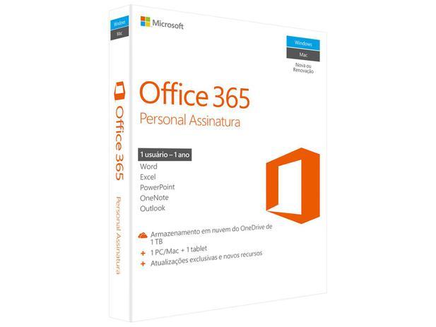 f73f53ffa Microsoft Office 365 Personal - 1TB de Armazenamento Válidos por 1 ...